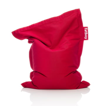 Fatboy - Pouf Junior Stonewashed, rouge
