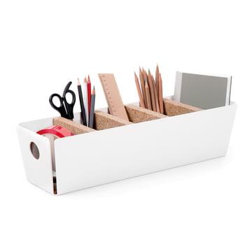 Konstantin Slawinski - Rangement de table Shuffle-Box, blanc, décoration de bureau