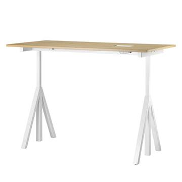 String - Works Bureau, blanc / chêne