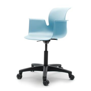 Flötotto - Fauteuil pivotant Pro6, polyamide/bleu turquoise