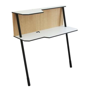 Jonas & Jonas - Bureau Walldesk 101, bois de chêne/blanc/noir