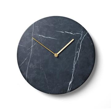 Menu - Marble Horloge murale, noir