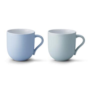Stelton - Tasse Emma (Lot de 2), grand format, bleu