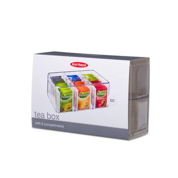 Rosti Mepal - Boîte à sachets de thé rectangulaire, transparente