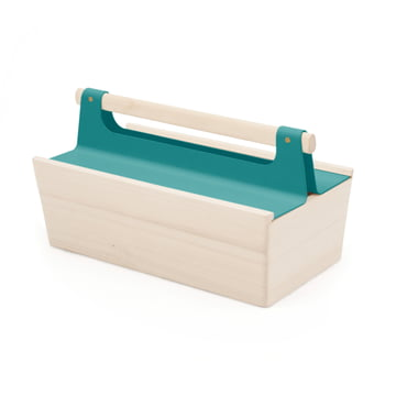 Boîte à outils Louisette de Hartô en bleu d'eau (RAL 5021)