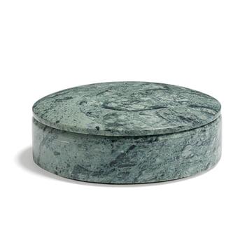Hay - Boîte Lens Box avec couvercle S, empilable, Ø 14cm, vert, marbre