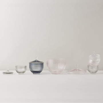 Bonbonnière en verre de tailles différentes