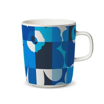 Mug à anse Oiva Ruutu-Unikko 250ml de Marimekko en bleu