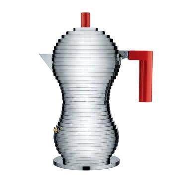 Cafetière espresso 30cl Pulcina (induction) par Alessi en rouge
