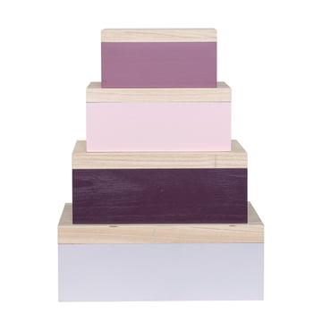 Bloomingville - Storage Box (Set of 4), pink