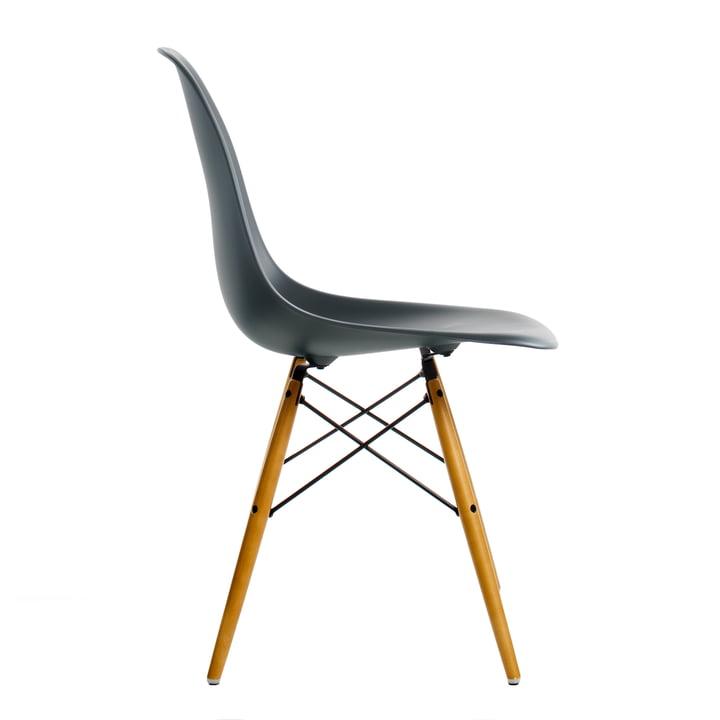 Vitra - Eames Plastic Side Chair DSW, Érable clair / basic foncé