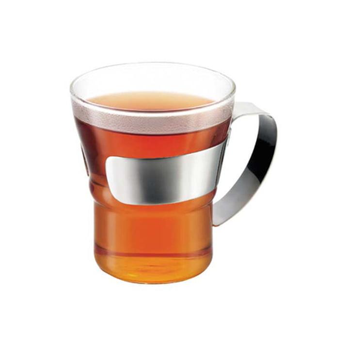 Bodum - Verre à thé Assam avec poignée en acier inoxydable, avec du thé