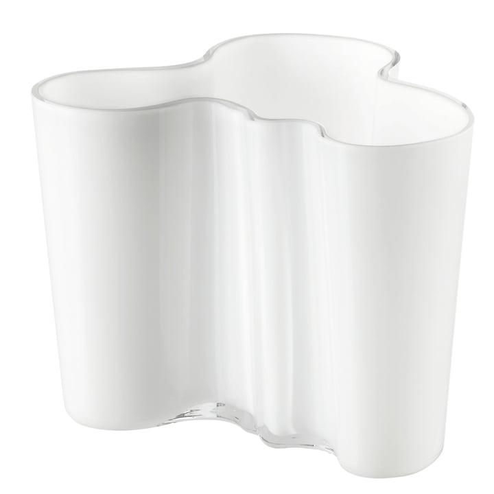 Aalto Vase Savoy, blanc opale, 160mm