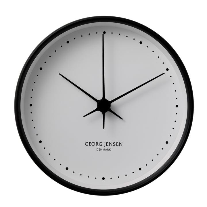 Henning Koppel horloge murale ø22cm - noir / blanc