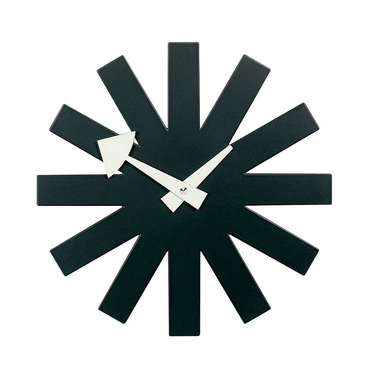 Horloge Asterisk Clock de Vitra en noir