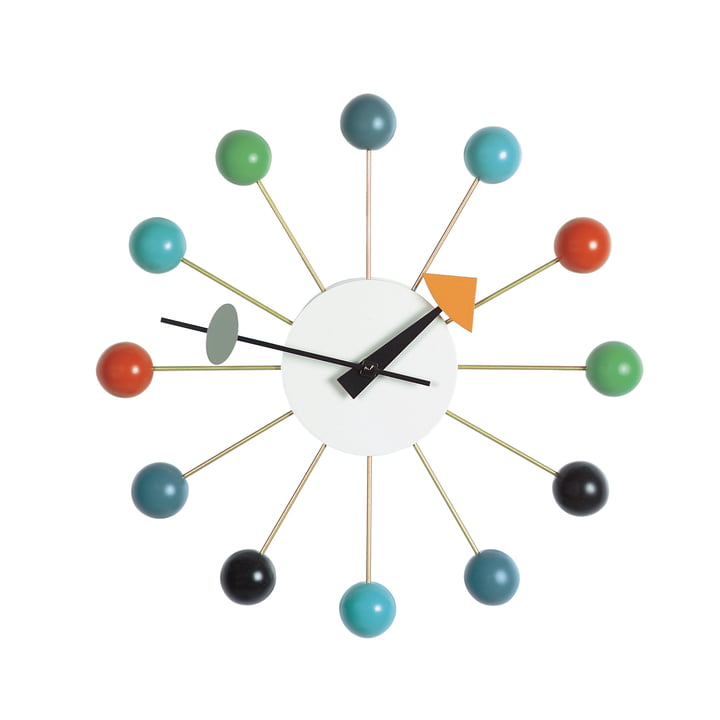 Ball Clock multicolore