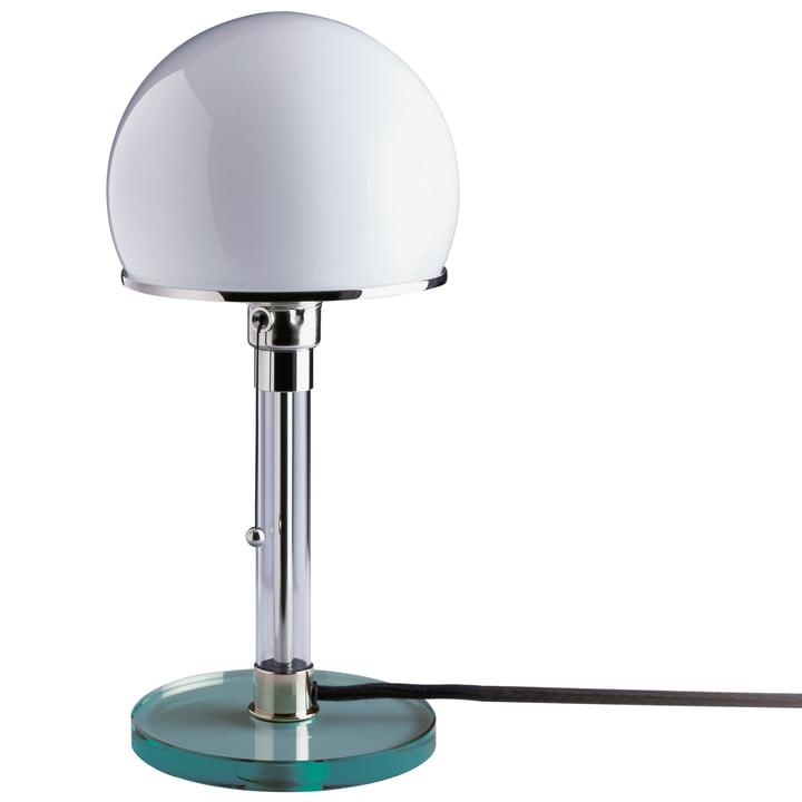 Lampe Wagenfeld WG 24 avec base en verre clair de Tecnolumen
