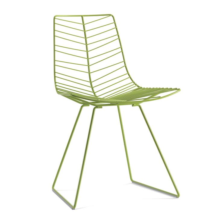 Chaise Leaf Arper, vert