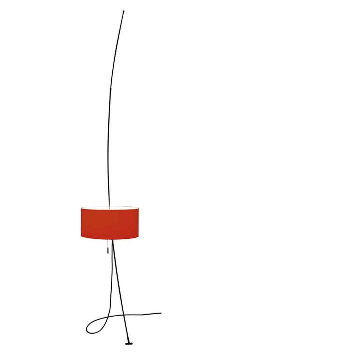 Lampadaire Totora rouge