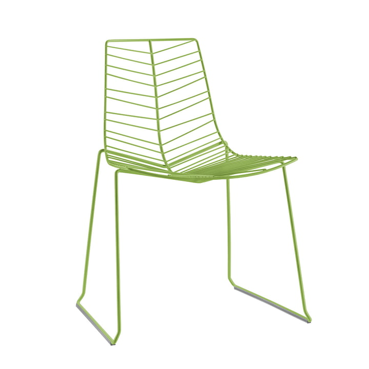 Chaise Leaf (empilable), vert