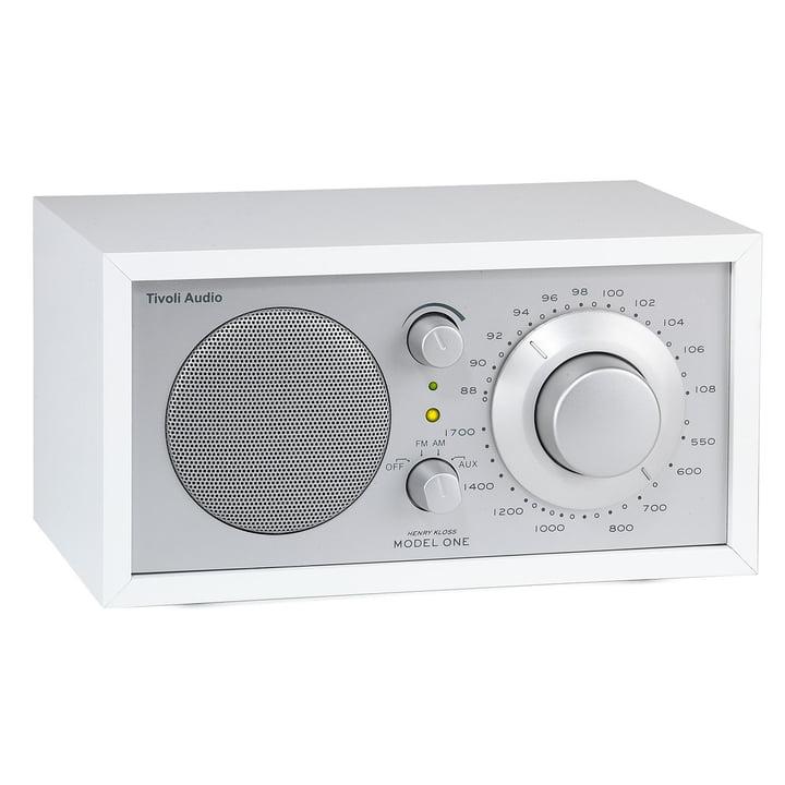 Model One Mono Radio - blanc / argent