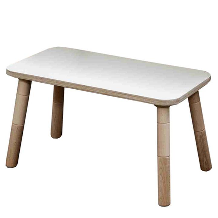 Growing Table - Banc, HPL blanc
