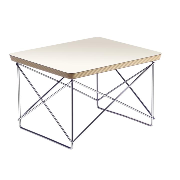 Eames Occasional Table LTR de Vitra dans HPL White / Chrome