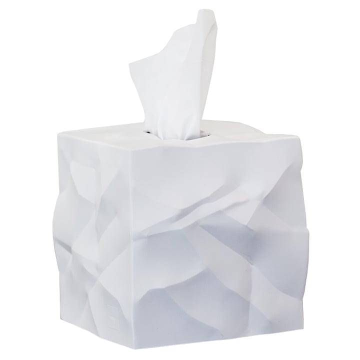 Wipy-Cube Boîte en tissu d'Essey en blanc