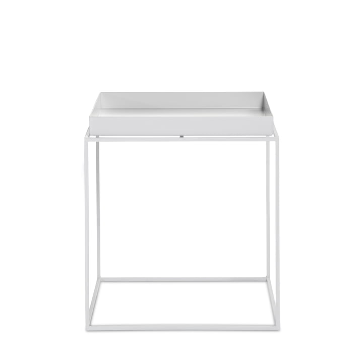 Hay - Tray Table carrée, 40 x 40 cm, blanc