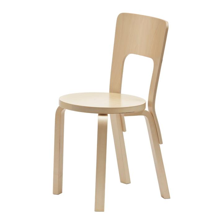 Chaise 66 par Artek en placage bouleau