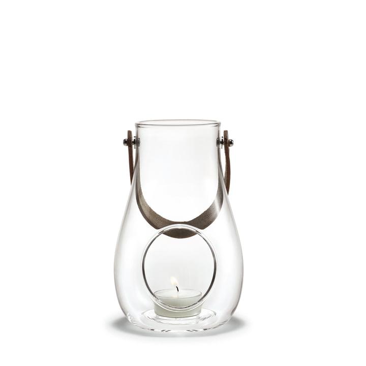 Design avec lanterne légère H 16 cm de Holmegaard en clair