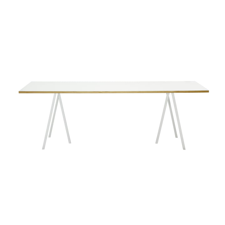 Hay Loop Stand Table, 160, blanc