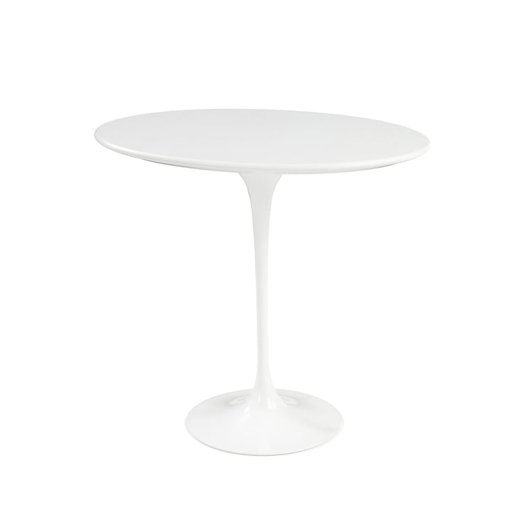 Knoll - Saarinen Tulip table d'appoint ronde - blanc / stratifié blanc
