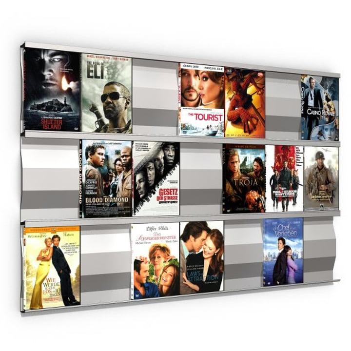 Système d'étagères Sigmarail SR7 en aluminium pour DVD