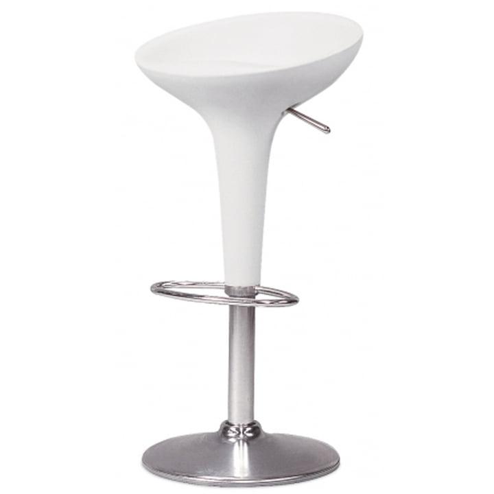 Tabouret de bar Bombo - à hauteur réglable, blanc