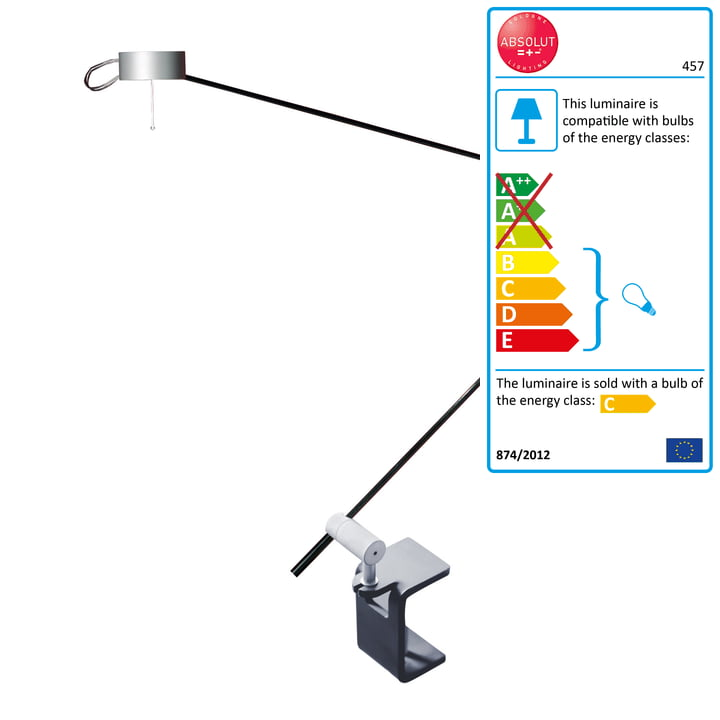 Lampe de bureau Absolut avec pince