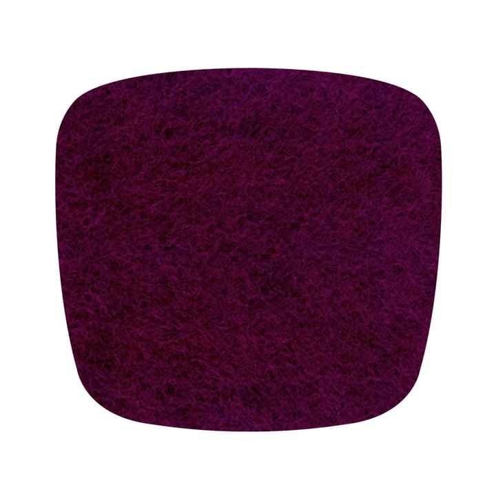 Hey Sign - Coussin de siège en feutre Eames Plastic Armchair, aubergine 5 mm