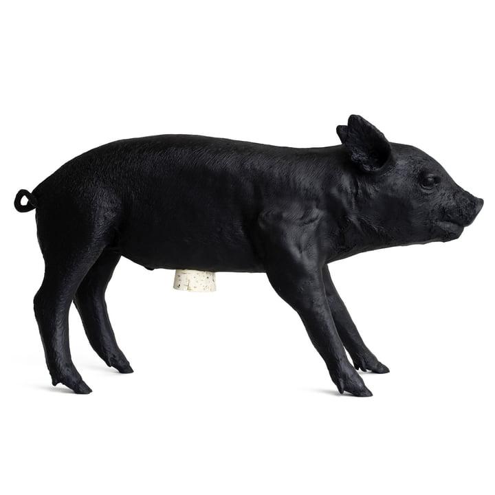 Le site Pig Bank Tirelire de Areaware , noir mat