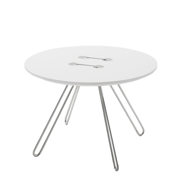 Casamania - Table d'appoint Twine, Ø 50cm, blanc