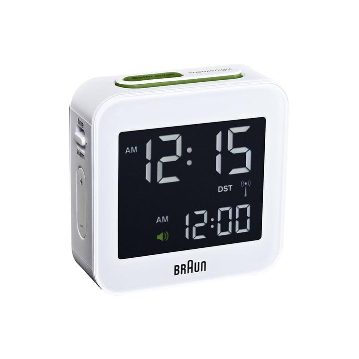 Réveil radio numérique BNC008 de Braun en blanc