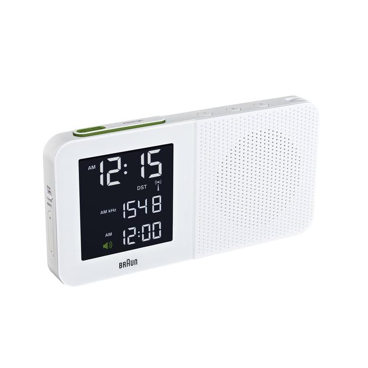 Braun - Radio-réveil numérique BNC010, blanc