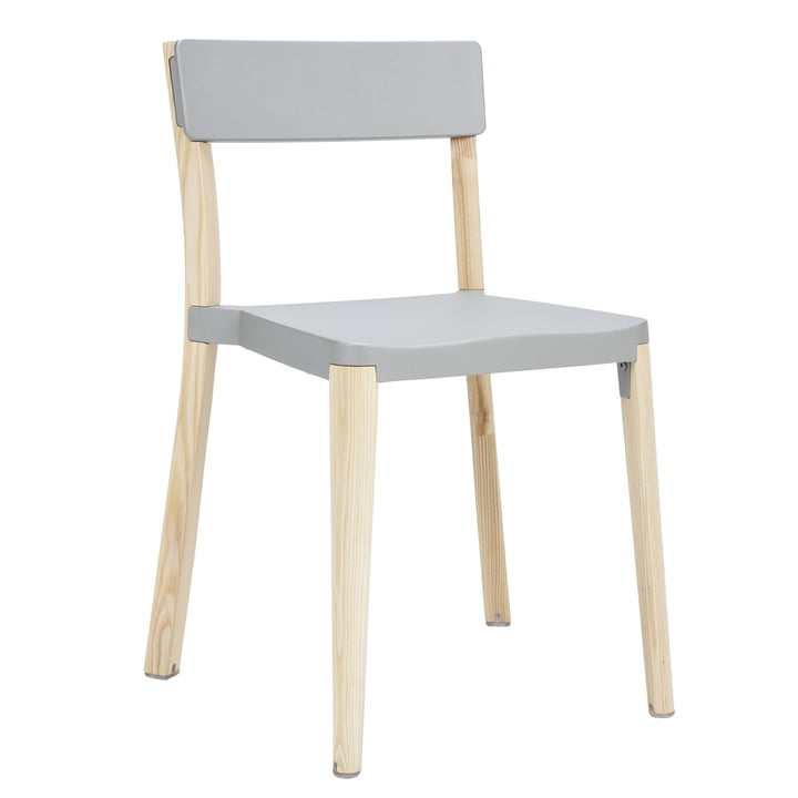 Emeco - Chaise Lancaster, gris clair, frêne clair