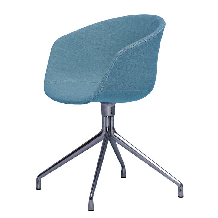About A Chair AAC 21 de Hay en aluminium poli / bleu clair (Steelcut Trio 853)