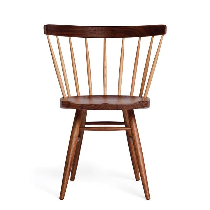 Knoll - Chaise Straight, bois de noyer