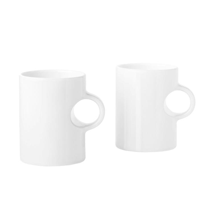 Stelton - Mug Circle, blanc (lot de 2)