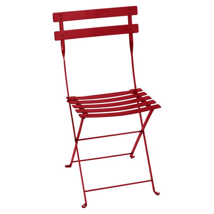 Chaise pliante en métal Bistro de Fermob en rouge coquelicot