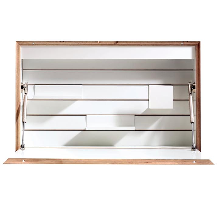 Müller Möbelwerkstätten - Flatbox, blanc - ouvert, devant