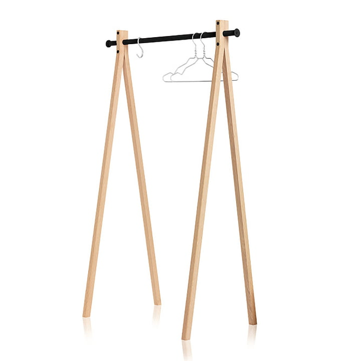 Nomess - Portant Dress-Up, frêne, noir, 90cm