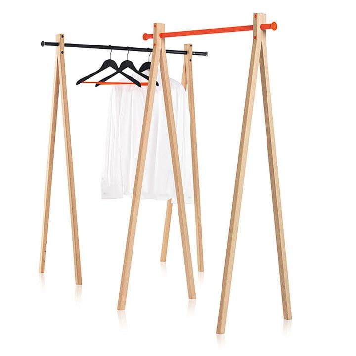 Nomess - Portant Dress-Up, frêne, noir/orange, 90cm