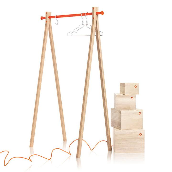 Nomess - Dress-Up, frêne, orange, 90cm avec boîtes Balsa